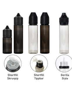 Tomflaska gorilla shortfill tom flaska PET 60 ml ejuice