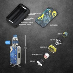 Eleaf iStick Mix 160W kit med Ello Pop tank - detaljer