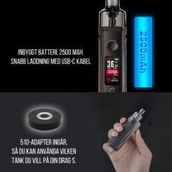 Voopoo Drag S e-cigarett vape kit detaljer