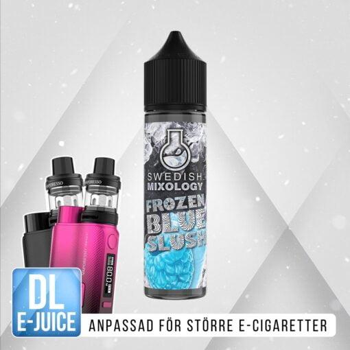 Swedish Mixology E-cigarett Vape E-juice Shortfill Frozen Blue Slush - Blue Raspberry