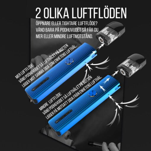 Uwell Caliburn G e-cigarett - Luftflöde