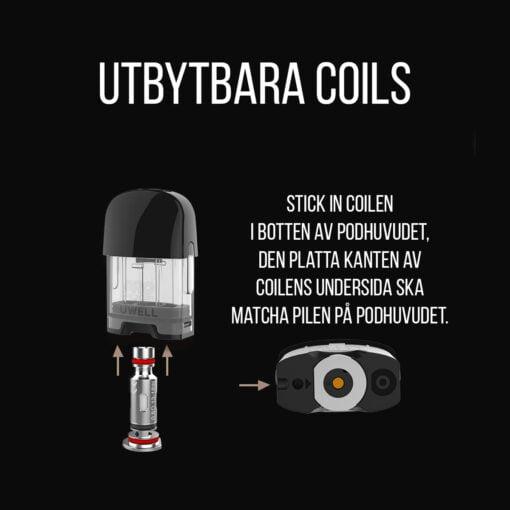 Uwell Caliburn G e-cigarett - Coils