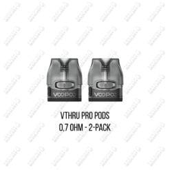 Voopoo Vthru påfyllningsbara podhuvuden / pods 2-pack